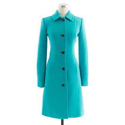 Jcrew green coat