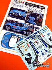 Belkits: Calcas escala 1/24 - Peugeot 207 S2000 Geko Nº 11 - Patrick Snijers (BE) + Cindy Cokelaere (BE) - Rally de Ypres de Belgica 2010 - para kit de Belkits BEL-001