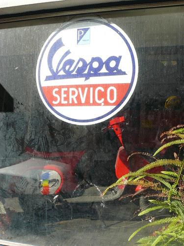 abandoned Vespa store