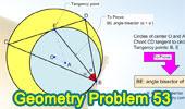 Problema 53. Circunferencias tangentes interiores, Cuerda, Tangente, Bisectriz.