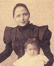 Giovanni Battista Montini y su madre