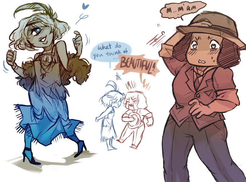 Ruby and Sapphire + human fashion ✨
