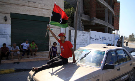 Libyan rebels enter a suburb of Tripoli on 22 August