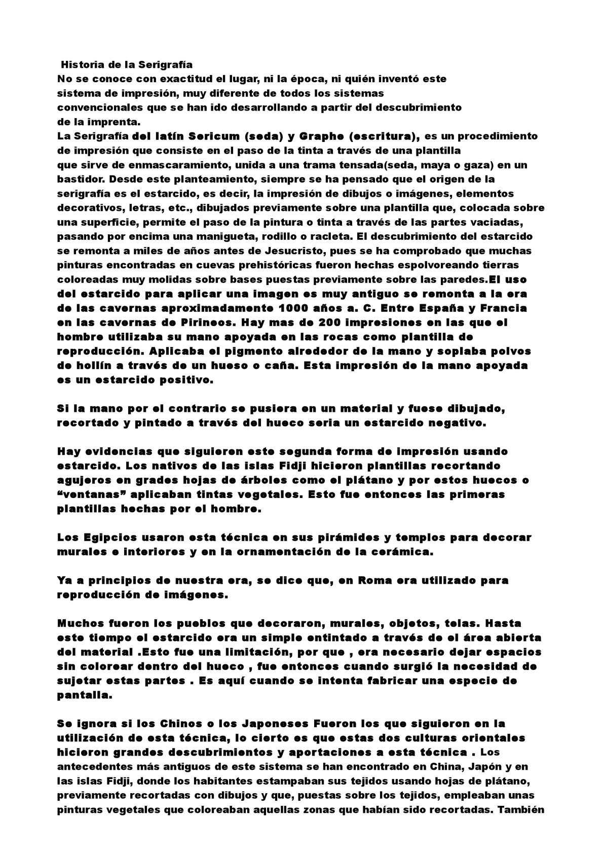 Calaméo Serigrafia Historia