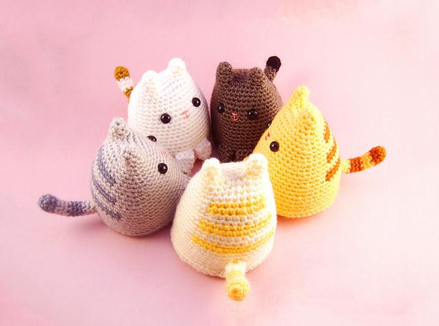 Amigurumi au crochet Dumpling Kitty par Sarah Sloyer