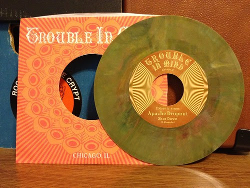 "Apache Dropout - Shot Down 7"" - Green Vinyl (/500) by Tim PopKid"