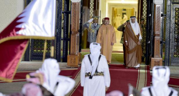 L'Emir du Qatar offre une cérémonie d'accueil officielle en l'honneur du Roi Mohammed VI