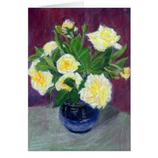 Cream Roses Birthday Card
