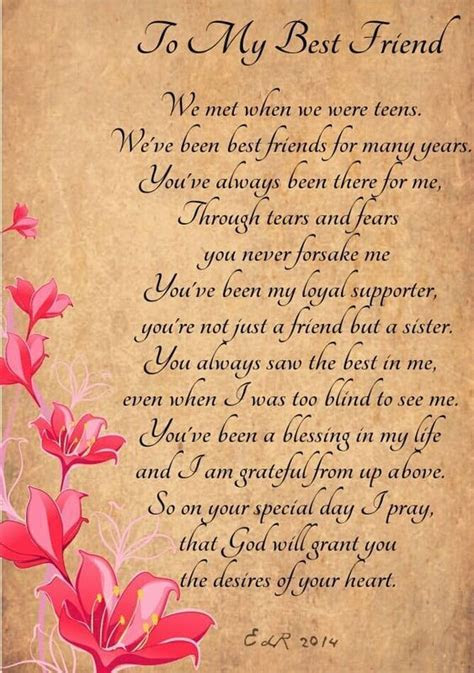 Best bday poem for friend on imgs   sandi   Happy birthday