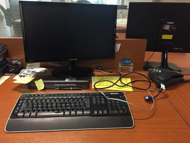 MPF anexou foto de computadores, sem gabinete, em empresa de Palocci (Foto: Reprodução)