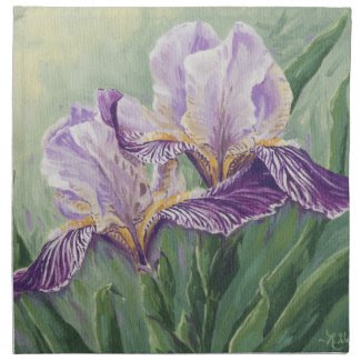 0455 Purple Irises Napkin