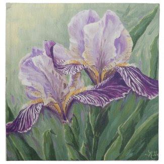 0455 Purple Irises Napkin