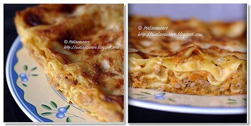 lasagne con ragù di zucca rossa