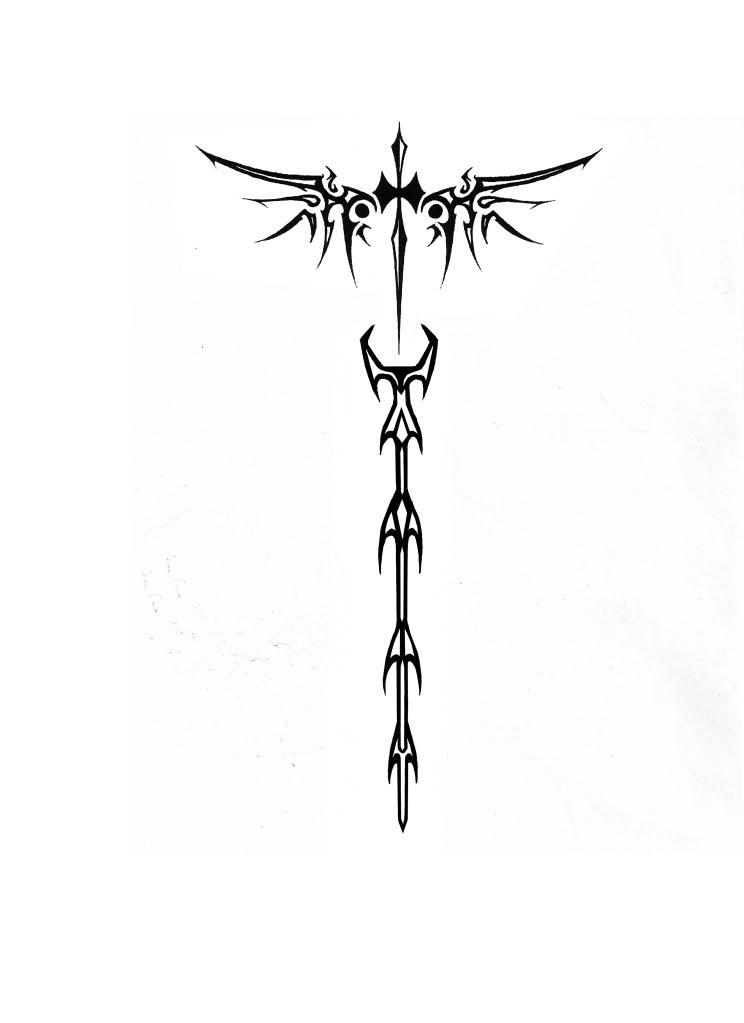 Pictures Of Cross Tribal Tattoo Wings Kidskunstinfo