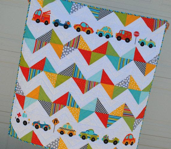 Peak Hour Chevron Quilt PDF Pattern designed by Sandra Farnsworth