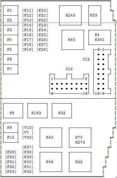 00 07 Ford Mondeo 3 Fuse Diagram