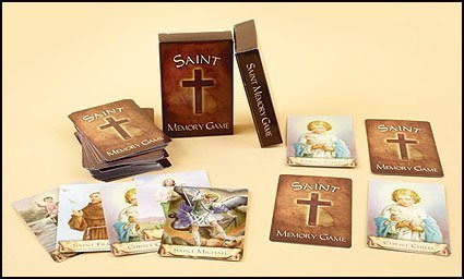 Saints Memory card game