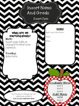 Cute Editable Newsletter Templates by Classy Kinders by Jamie ...