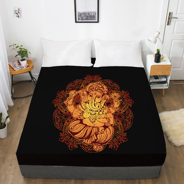 cheap 3D HD Digital Printing Custom Bed Sheet With Elastic,Fitted Twin Full Queen King,Golden On Black Mattress Cover 160x200 RECOMMENDED TODAY H2 BUY Now LIMITED DISCOUNT