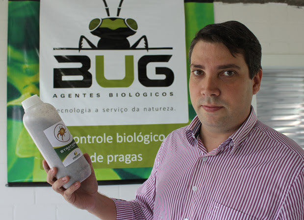 Marcelo Poletti, agrônomo e um dos diretores da diretor da BUG, em laboratório na unidade de Charqueada. (Foto: Divulgação / BUG)