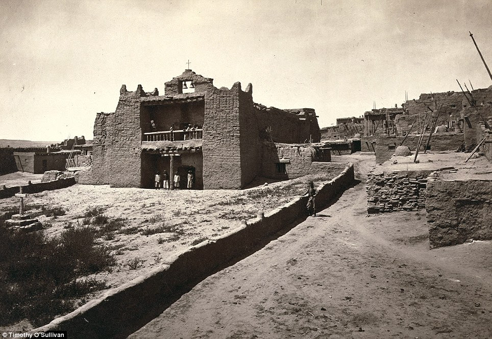 On this rock I build a church: Old Mission Church, Zuni Pueblo, New Mexico pictured in 1873