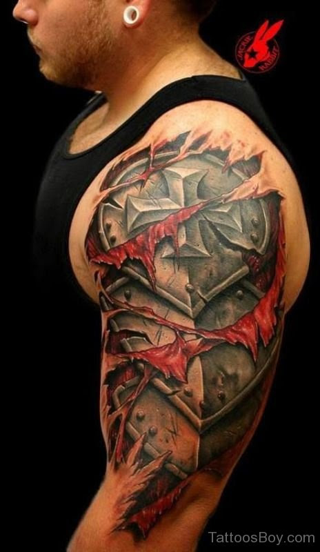 Armor Tattoo Design On Half Sleeve Tattoo Designs Tattoo Pictures