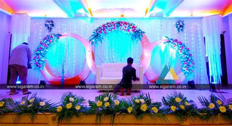 Reception stage decoration at Atithi Hotel, S.V. Patel