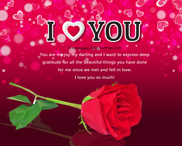 Love You Romantic Sweetheart Red Rose