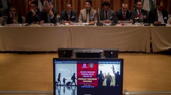 Asistentes de varios países en la reunión de Interpol en Sevilla