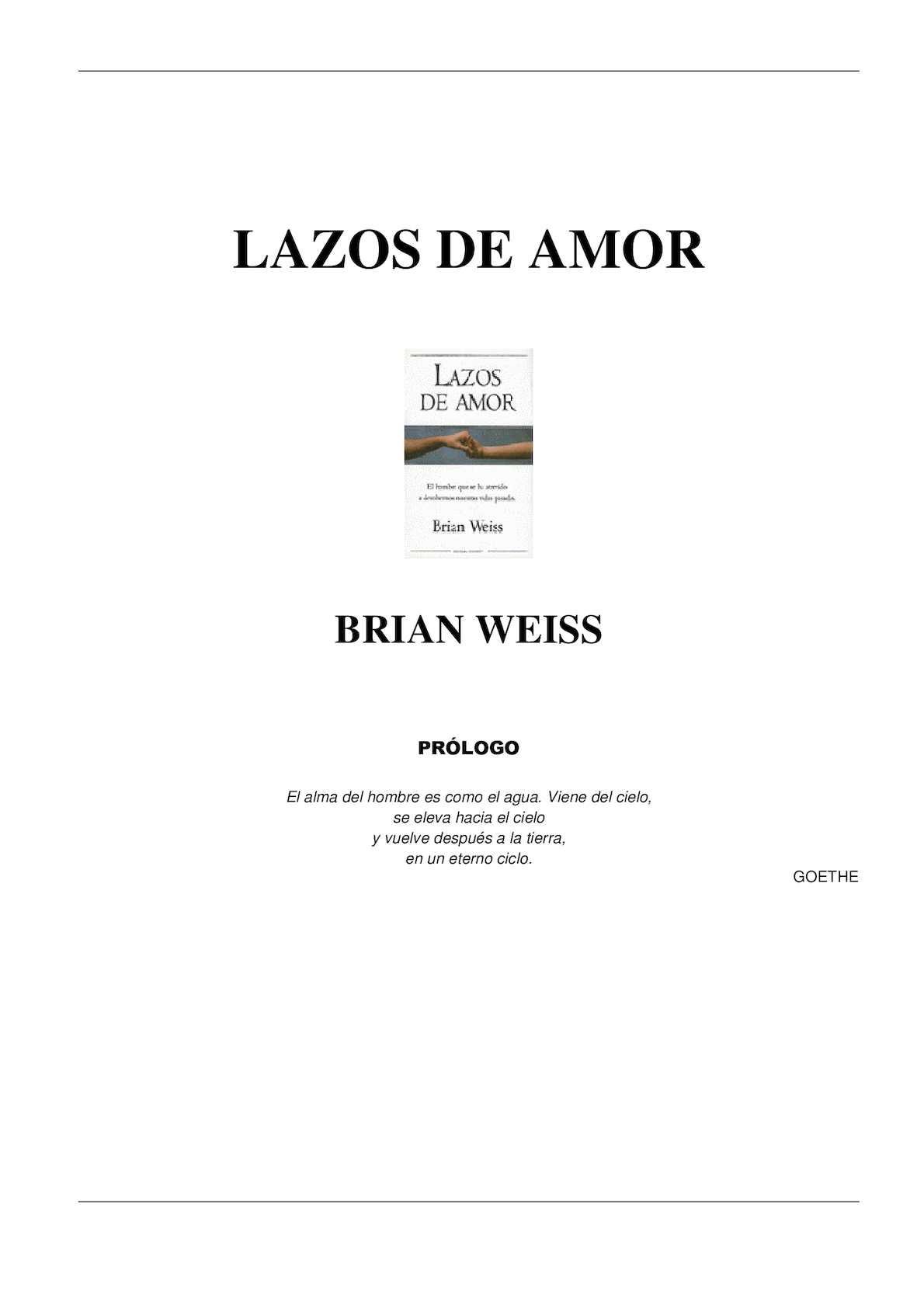 Calameo Lazos De Amor Brian Weiss