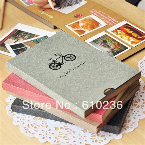 N vintage Antique A5 DIY PHOTO ALBUM Scrapbook with corner