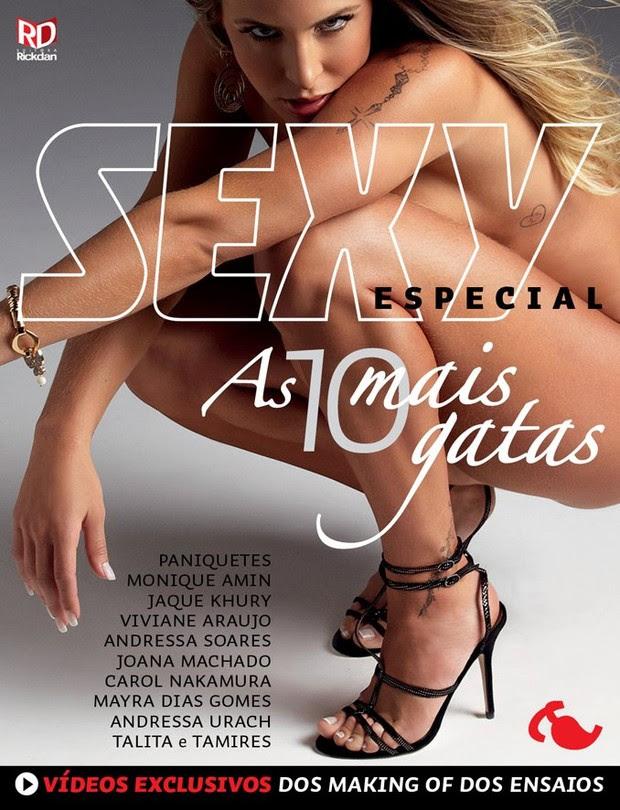 Joana Machado aparece completamente nua em edição especial da revista 'Sexy' (Foto: Divulgação)