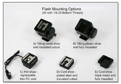 Flash Mounting Options (all with 1/4-20 bottom thread)
