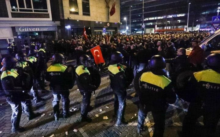 Image result for rotterdam riots march 2017