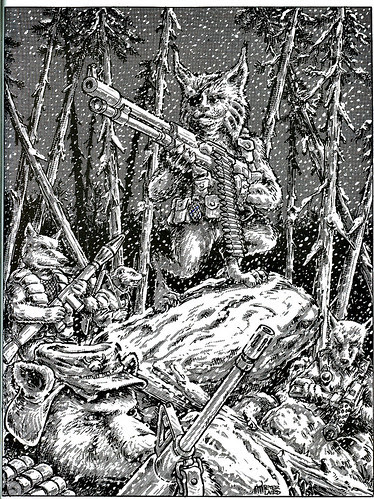 """'A Journey to Boar's Town' by Peter Laird from """"After the Bomb"""" - A Teenage Mutant Ninja Turtle Supplement by Erick Wujcik ((1986))"""