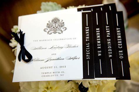 wedding invitation inspiration ceremony program handmade
