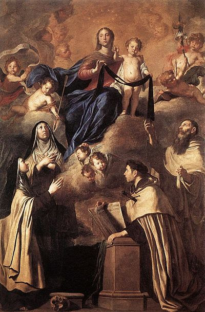 File:Pietro Novelli Our Lady of Carmel and Saints.JPG