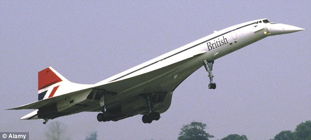 Iconic: The British Airways Concorde which began flying passengers at supersonic speed in 1976