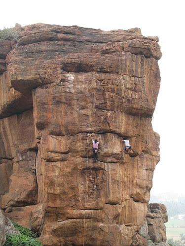 Badami Rock Climbing First Day