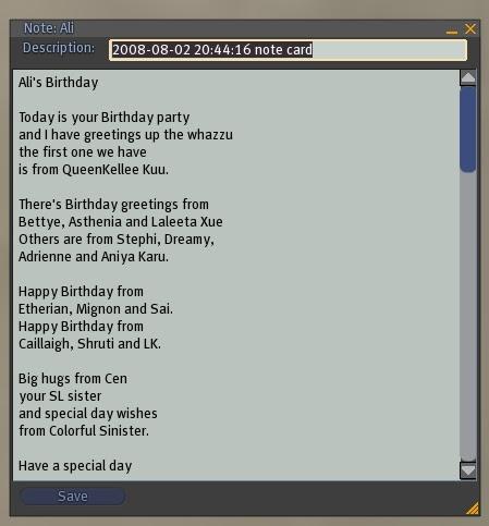 3 Things - Birthday poem 2008