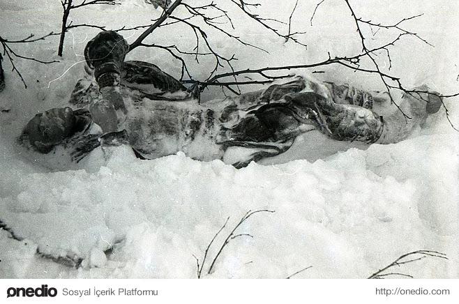 22-)  Kurtarma Ekiplerinin Kamerasından, 26 Şubat 1959 (Dyatlov'un Cesedi)