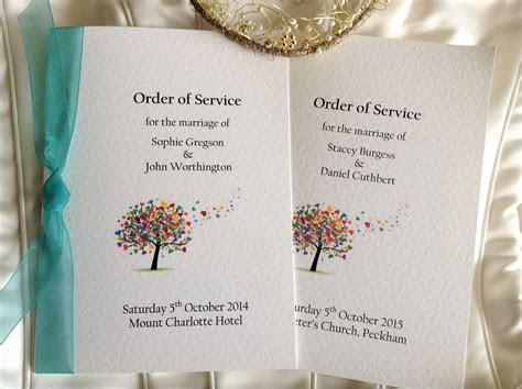 Love Tree Wedding Order of Service Books   Wedding Stationery