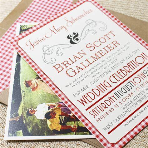 Picnic Celebration Flat Card Wedding Invitation (West