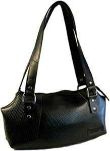 Recycled tire inner tube purse - Ada style - from El Salvador.