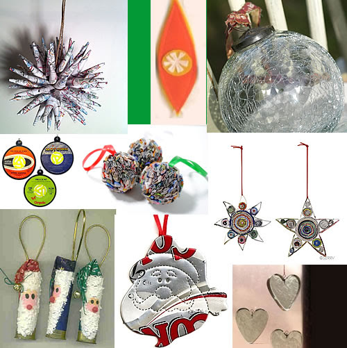 recycled holiday ornaments