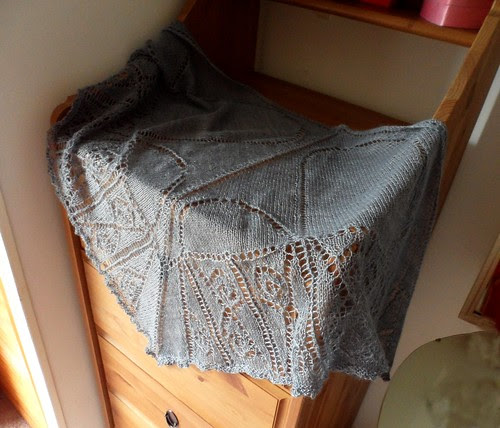 Junofibrearts from Loop Islington Alice Lace yarn intricate lace shawl