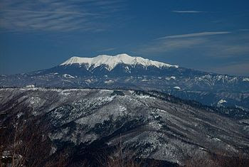 English: Mount Ontake from Kuraiyama 日本語: 位山から...