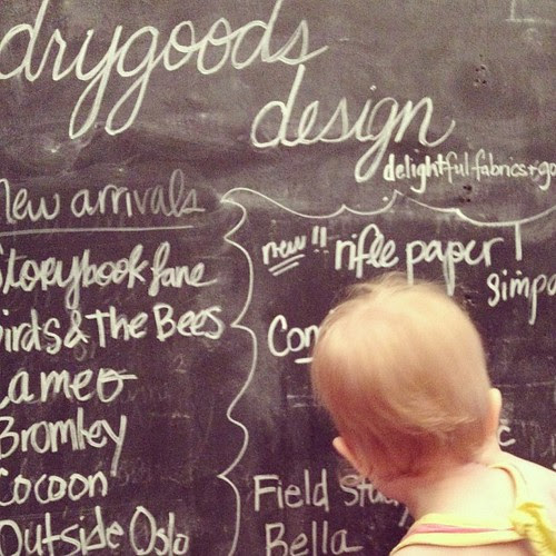Ingrid getting busy at Drygoods Design