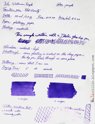 Waterman Purple photocopy