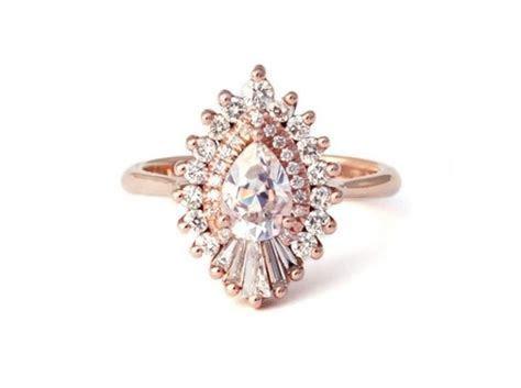 Heidi Gibson 'Rhapsody' Pear Halo Engagement Ring   Aisle